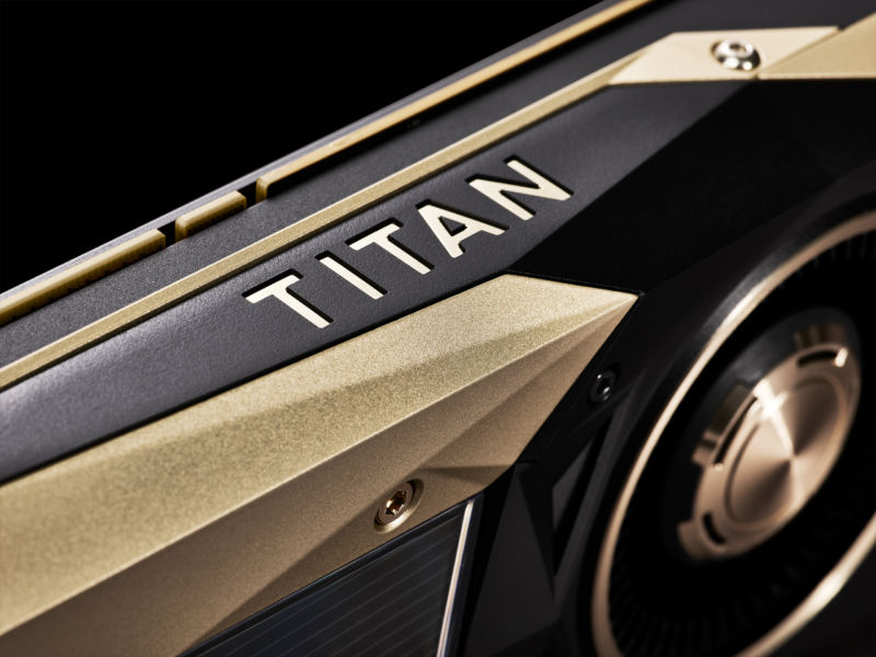 Nvidia's new graphics card is $3,000, painted gold, and not meant for graphics