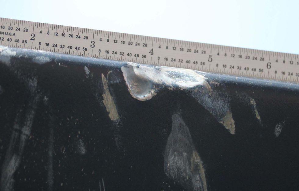 Rotor damage.
