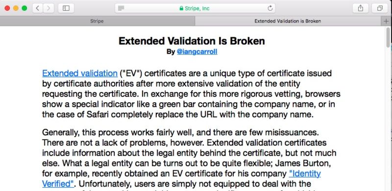 Nope, this isn't the HTTPS-validated Stripe website you think it is