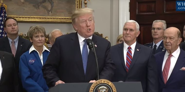 President Trump says we're going back to the Moon