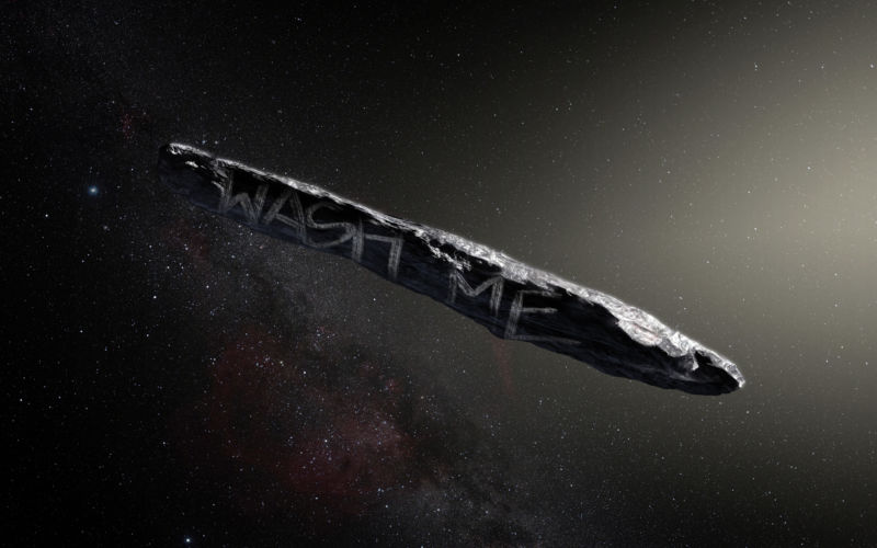 Interstellar visitor might be a comet covered in carbonaceous crud