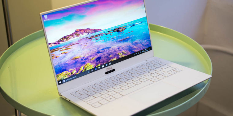 New white and rose gold Dell XPS 13 laptop features 8th-gen