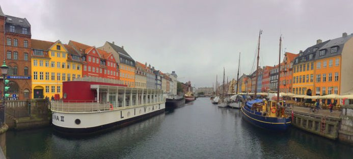 The Nyhavn canal in Copenhagen, Denmark.