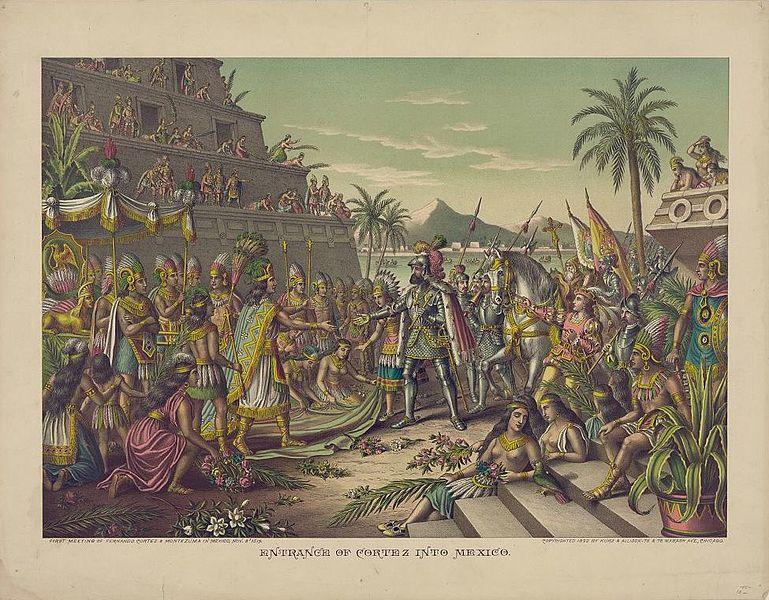 Entrance of Hernan Cortes into Mexico