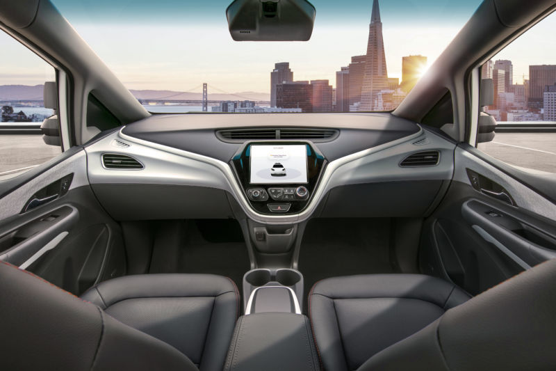 Congress has been considering legislation to allow GM to release this modified Chevy Bolt with no steering wheel in 2019.