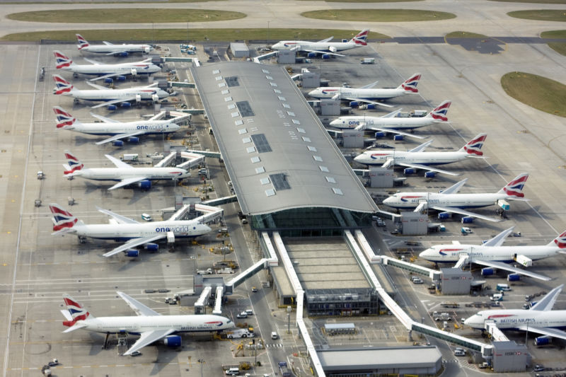 Drone sighting grounds planes at Heathrow Airport