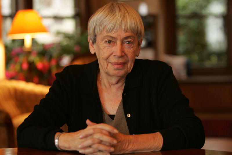 Ursula Le Guin at home in Portland, Oregon, December 15, 2005.