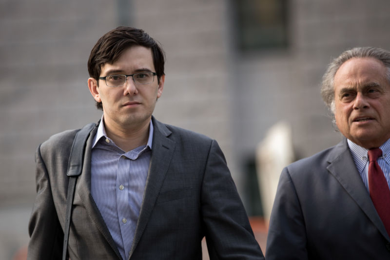 Former pharmaceutical executive Martin Shkreli. Jail for him, competition for his kind.