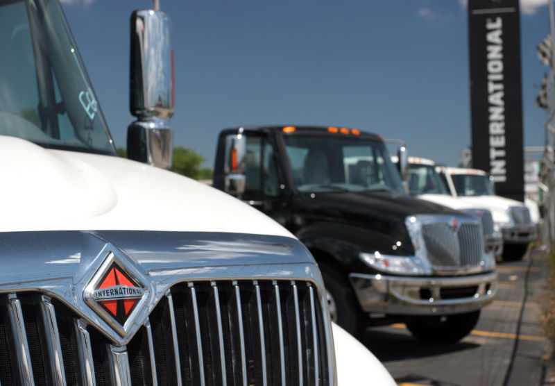 International Trucks is a Navistar brand. Navistar wants to expand its lineup with electric models. (Photo by Callie Lipkin/Bloomberg via Getty Images)