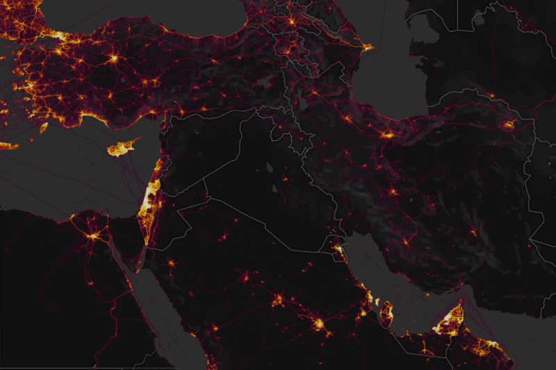 "A heatmap of Strava ""workout"" data revealed sensitive locations around the world, including some mysterious places in Syria."