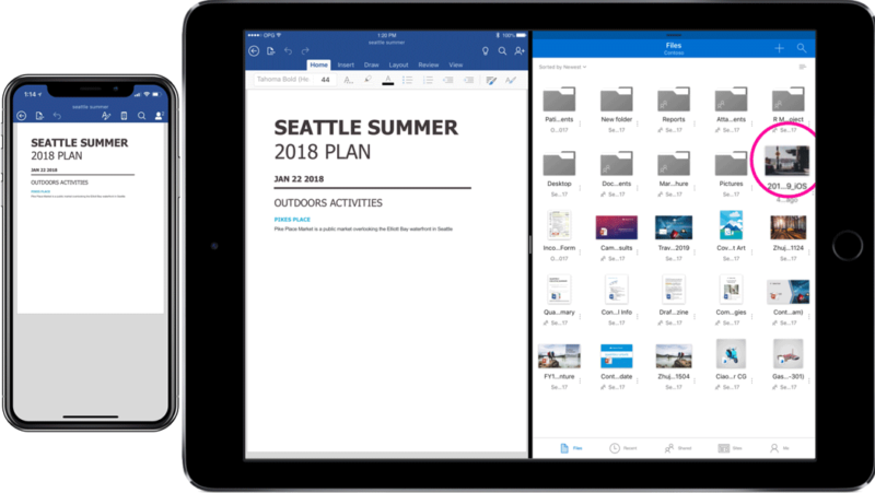 Microsoft updates Office, OneDrive iOS apps with drag-and-drop, Files support