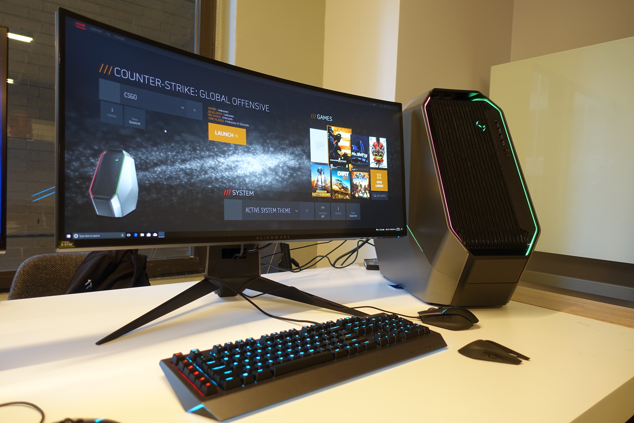 Enlarge The Revamped Alienware Command Center S Home Screen With Its Library On Right