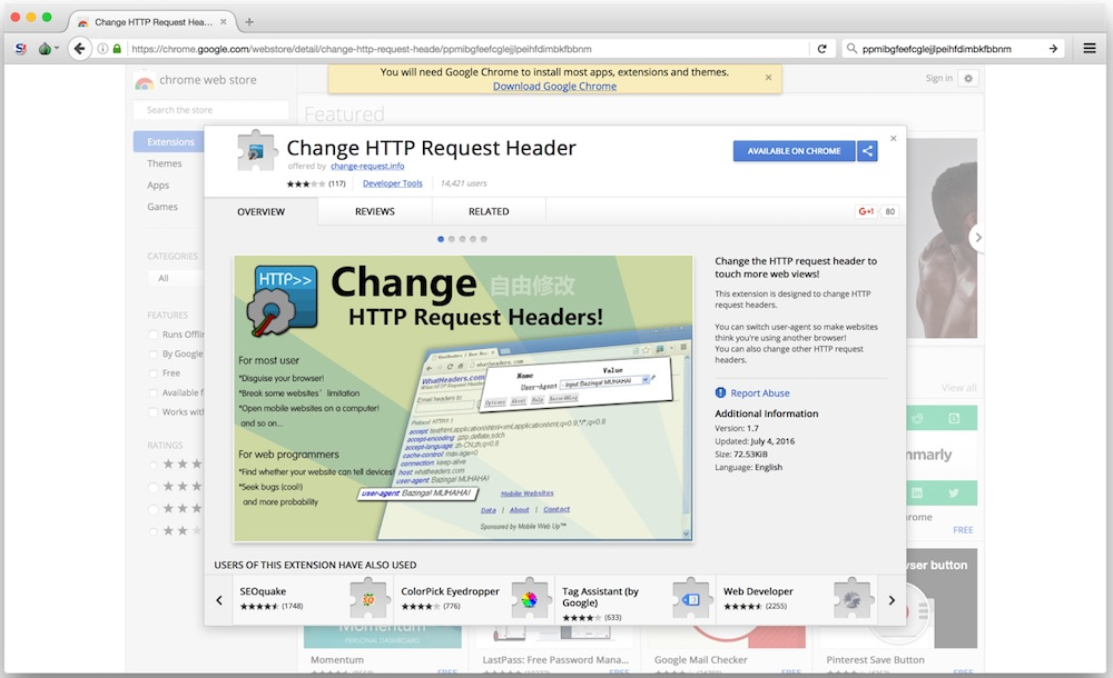 39d1e8002 Google Chrome extensions with 500