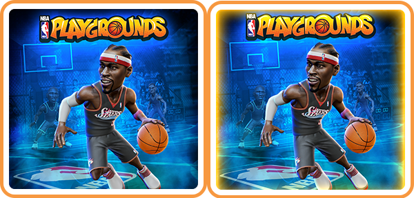 "Saber Interactive just updated its <em>NBA Playgrounds</em> game on the Switch, but not via a patch. You'll have to re-download the game after manually searching for it. The result: You can end up with both of these icons on your home screen. (The slightly glowier one is the ""updated"" one, if you're wondering.)"
