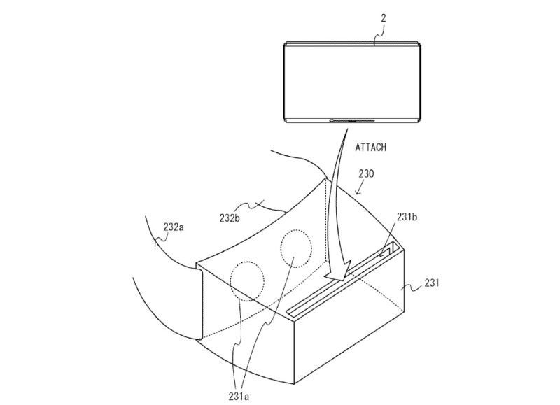 It looks like this patent image that surfaced in 2016 is as close as we're going to get to a Nintendo-approved VR headset anytime soon.