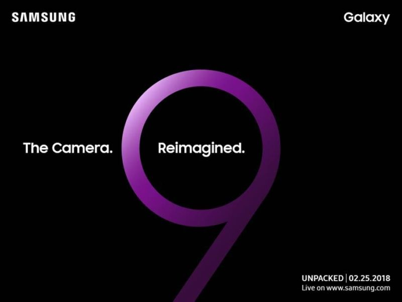 "Samsung announces the Galaxy S9 launch, teases ""reimagined"" camera"