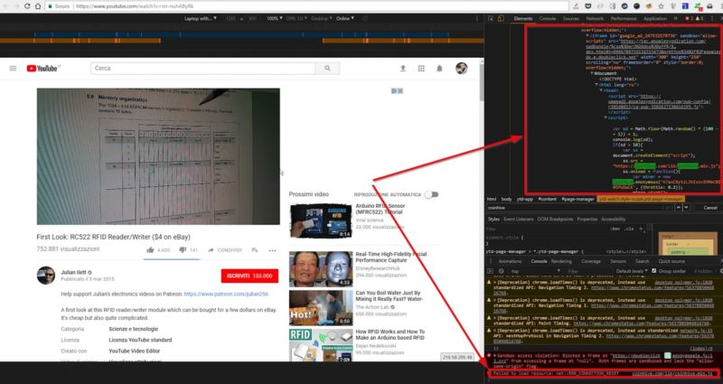 Now even YouTube serves ads with CPU-draining cryptocurrency