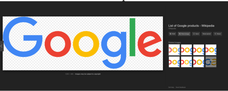 "Google Image search will no longer offer the ""view image"" button, which directly linked to an image."
