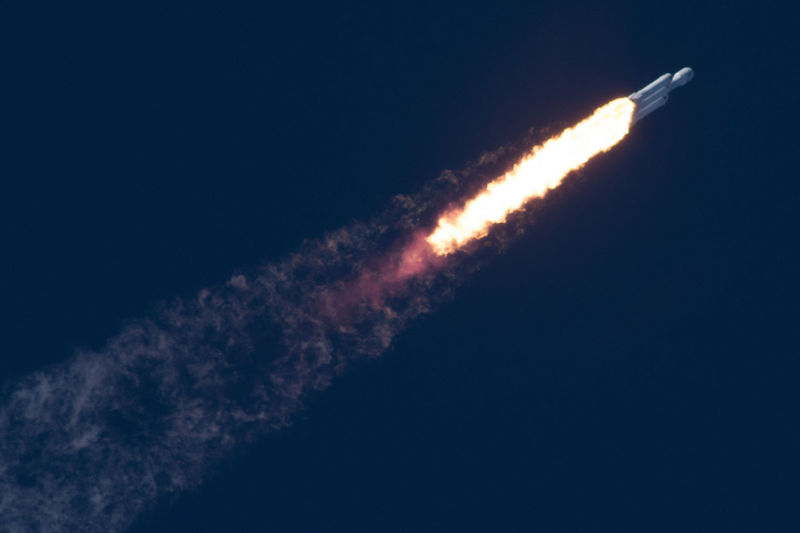 SpaceX launches most powerful Falcon Heavy rocket flying towards Mars