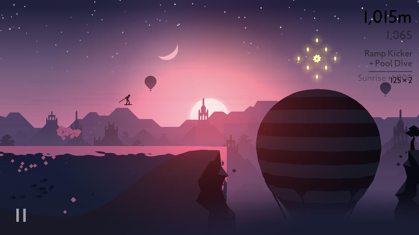 The scenes in <em>Alto's Odyssey</em> can be much more complex than those found in <em>Alto's Adventure</em>, creating concerns about compatibility for older devices. For that reason, optimizing performance was a priority this time around.