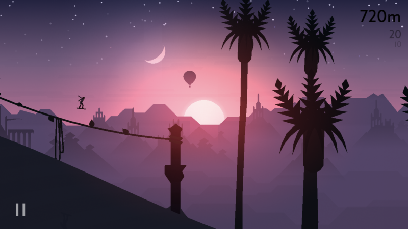 Alto's Odyssey on an iPhone 7.