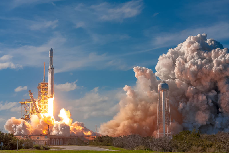 The Falcon Heavy rocket made its debut launch at 3:45pm ET Tuesday, February 6, 2018, with all 27 engines firing.