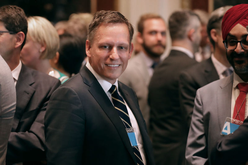 Tech Luminary Peter Thiel Parts Ways With Silicon Valley