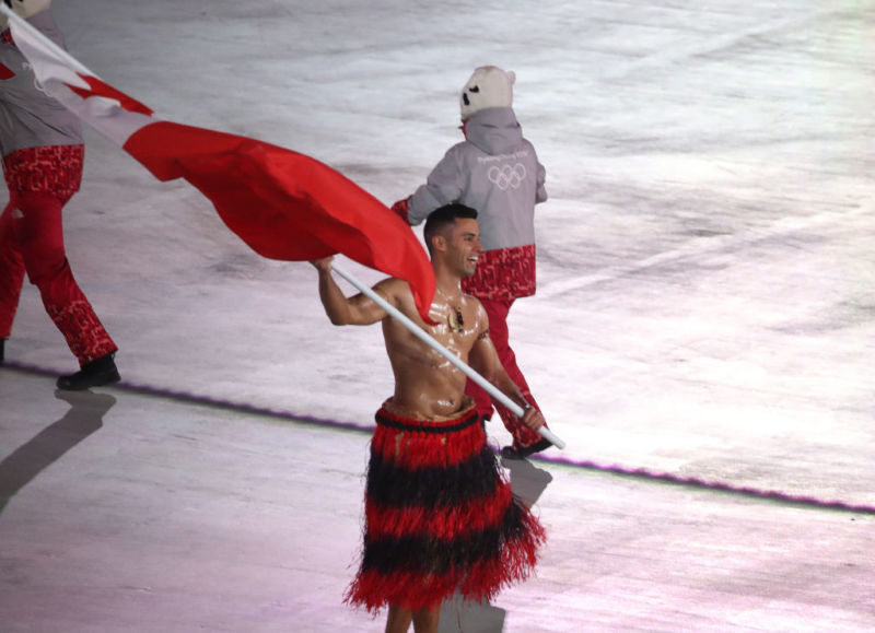 Tonga's flagbearer at the 2018 Pyeongchang Winter Olympics may not have been able to order a shirt off the Games' official site in time, thanks to wiper malware bringing the Olympics' networks down.