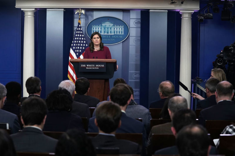 "White House Press Secretary Sarah Sanders issued a statement today declaring that Russia would face ""international consequences"" for releasing the NotPetya malware worm."