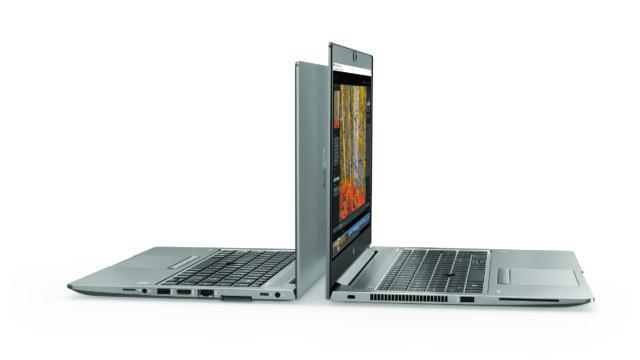 HP ZBook 14u and 15u, back to back.