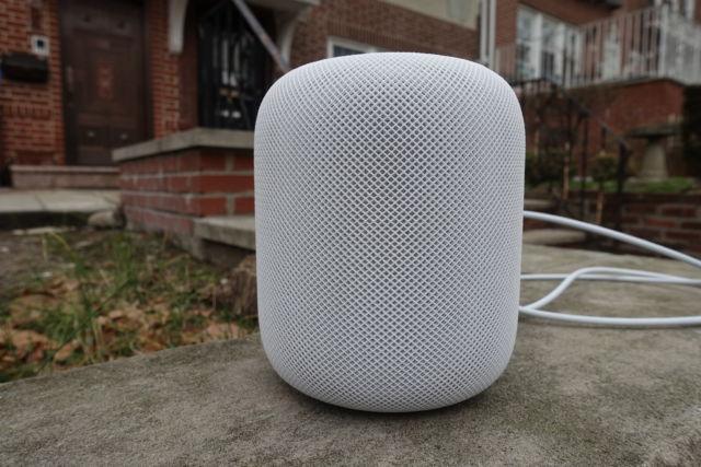 Apple's HomePod smart speaker.