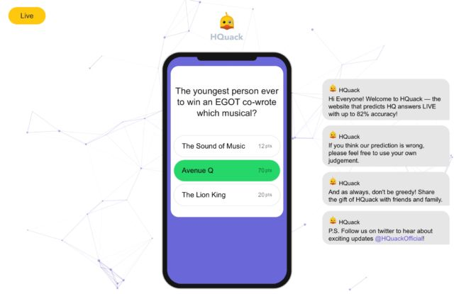A wave of cheating AI robots is threatening to ruin HQ Trivia