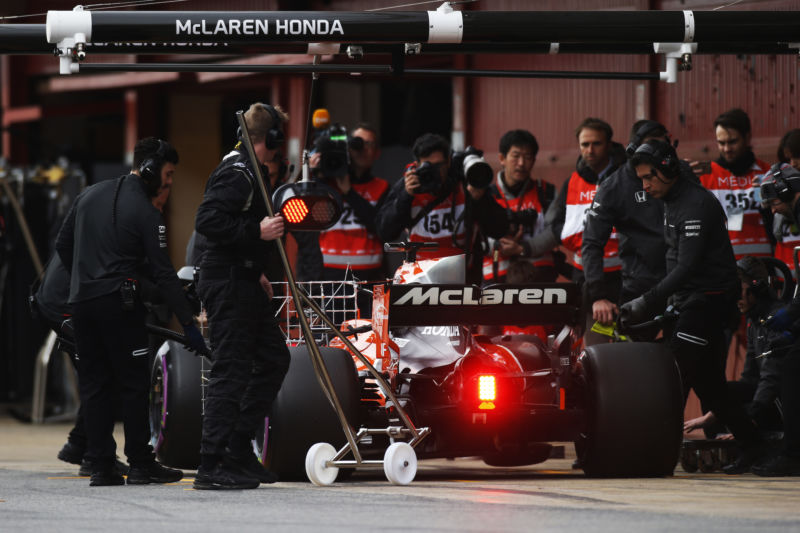 McLaren testing in Barcelona in the run up to the 2017 F1 season. The test did not go well...