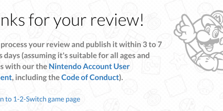 Nintendo finally catches up to other console makers, allows user game reviews
