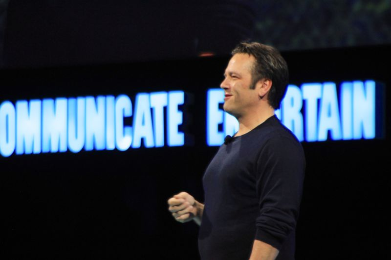 Microsoft's Phil Spencer speaks at the DICE conference in Las Vegas.
