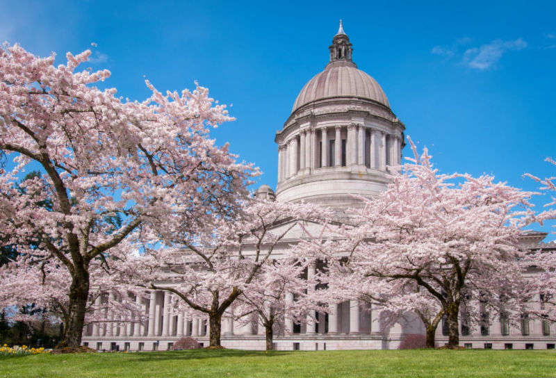 Washington State Capitol Legislative Building in Olympia, Washington.