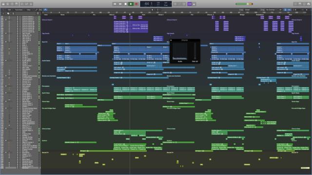 Logic Pro X running on the iMac Pro.