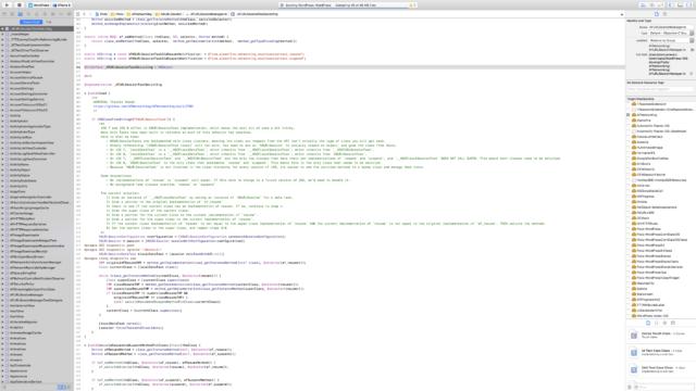 Building the WordPress iOS app in Xcode.