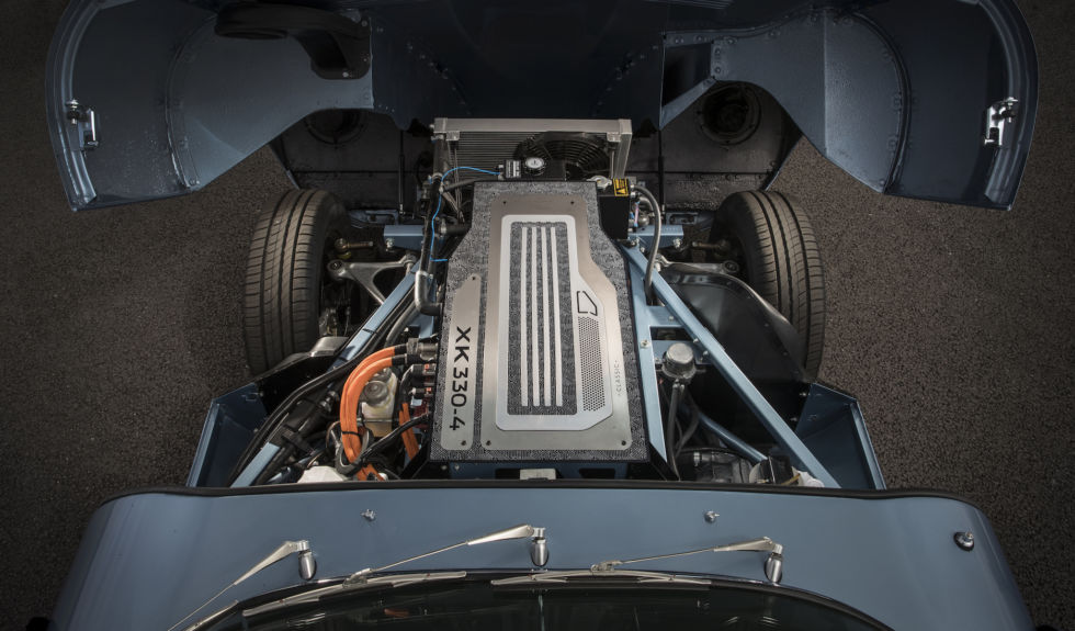 Last year, Jaguar suggested it had designed an electric powertrain and battery that was almost a true drop-in for the XK engine. At the time, we wondered if they had put one in a D-Type; now, I'm asking formally!