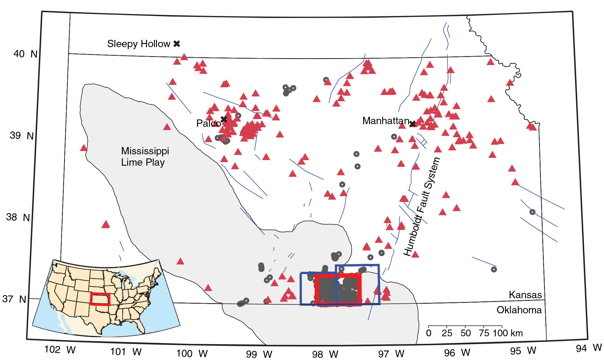 State Map Of Kansas And Oklahoma.Wastewater Injections Set Off A Kansas Earthquake Binge Ars Technica