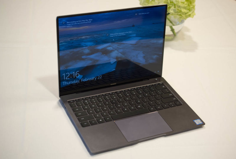 Huawei's answer to laptop privacy: A keyboard with a pop-up webcam