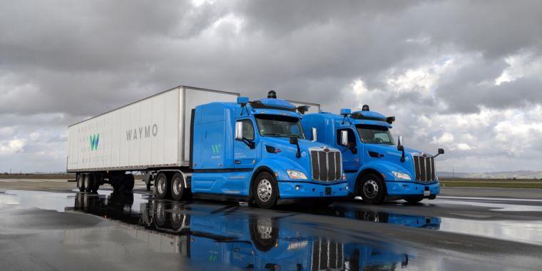Waymo self-driving trucks are hauling gear for Google data centers