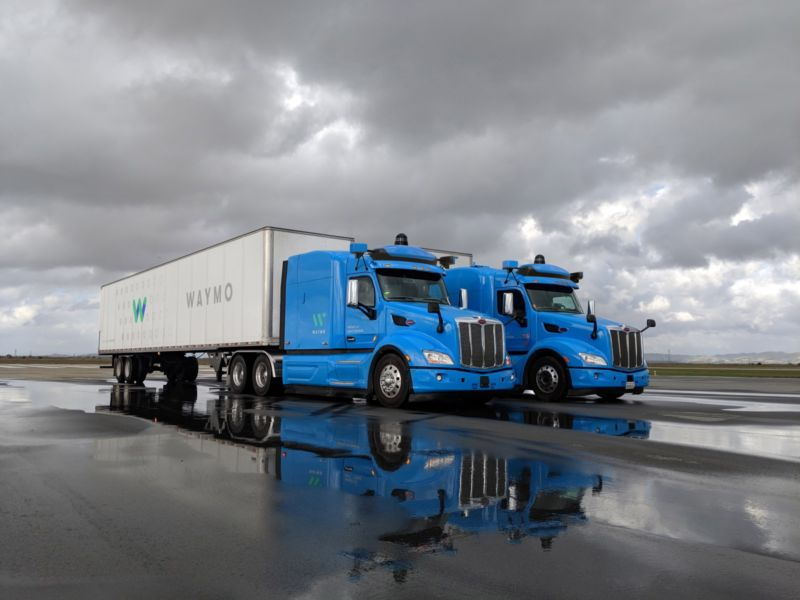 Waymo self-driving trucks are hauling gear for Google data centers