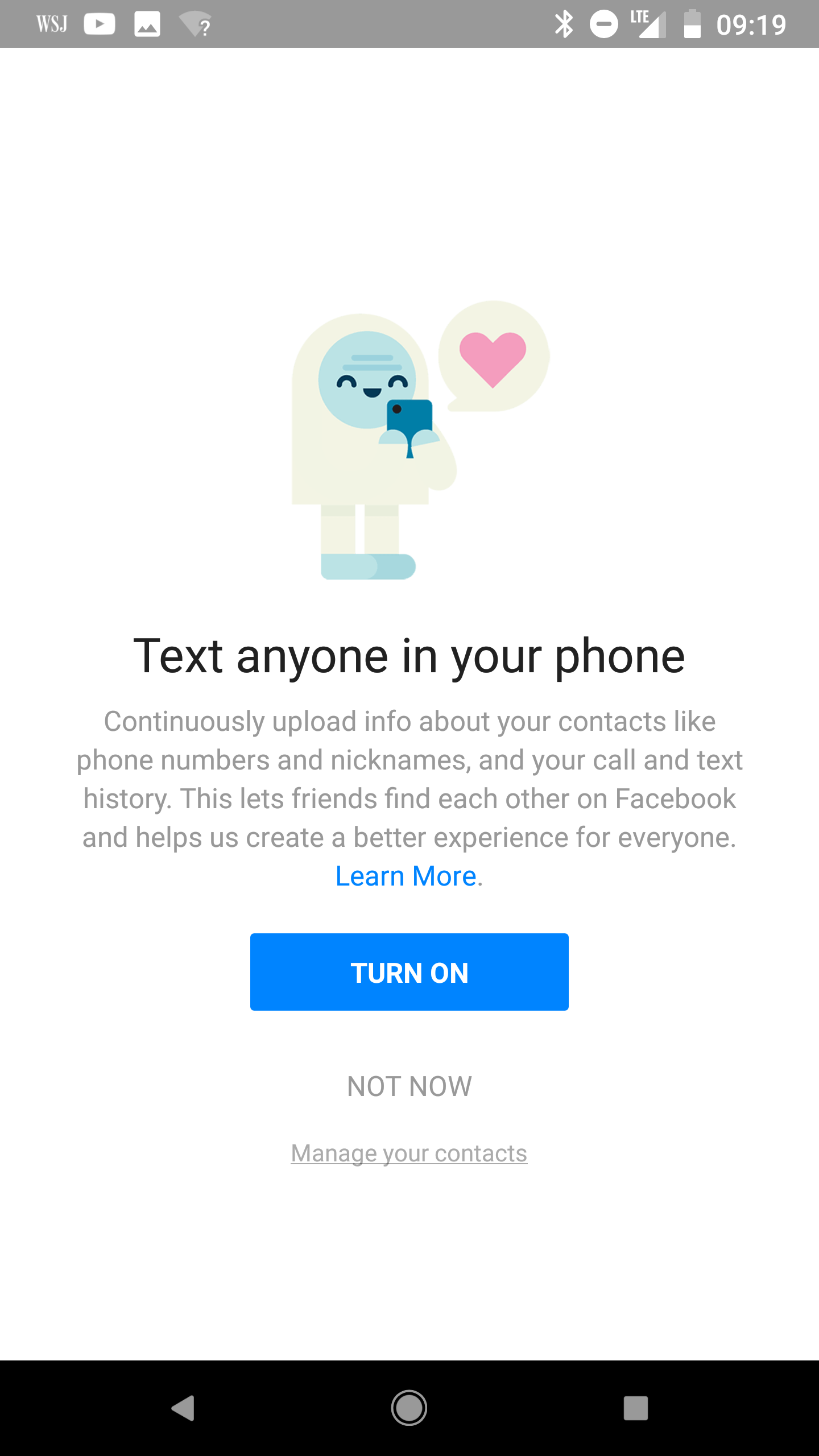 Facebook scraped call text message data for years from android enlarge this screen in the messenger application offers to conveniently track all your calls and messages but facebook was already doing this ccuart Images