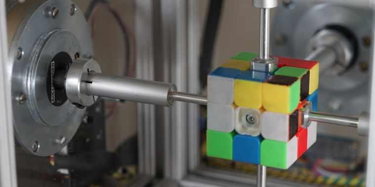 Robot smashes Rubik's Cube record with 0.38-second solve