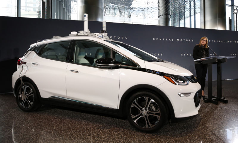 A Chevrolet Bolt AV self-driving test car like this one was involved in two incidents in San Francisco.