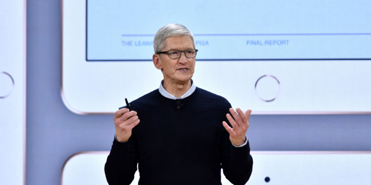 photo image Tim Cook says Apple's customers are not its product, unlike Facebook