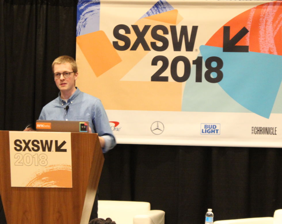 NRKbeta's Ståle Grut speaks at South By Southwest 2018.