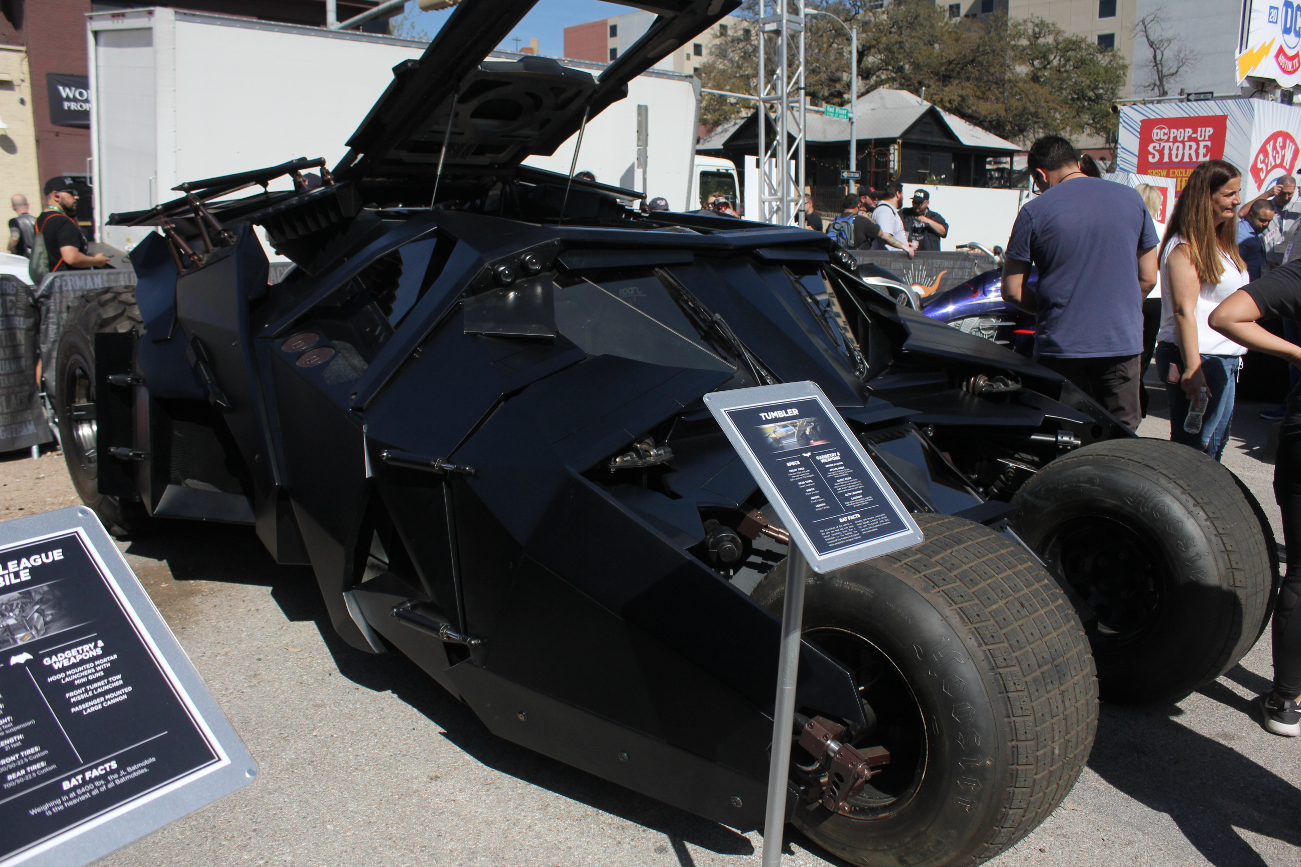 Is it a tank or a Batmobile? Maybe that's the point.