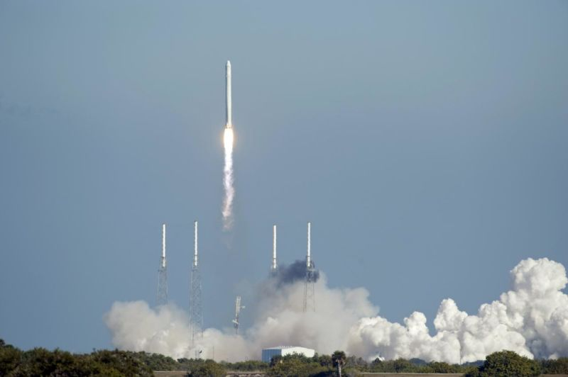 SpaceX's Falcon 9 rocket in milestone 50th launch